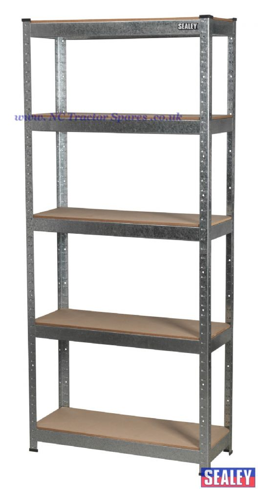 5 Shelf Racking Unit 150kg Capacity Per Level